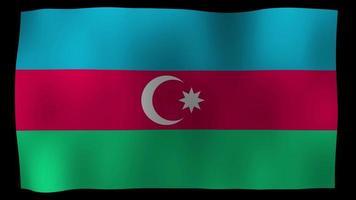 vídeo de stock de lazo de movimiento de 4k de bandera de azerbaiyán