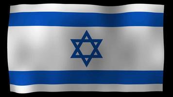 Video de stock de bucle de movimiento de 4k de bandera de Israel