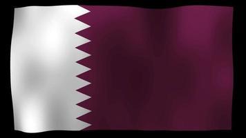 vídeo de stock de bucle de movimiento 4k de bandera de qatar