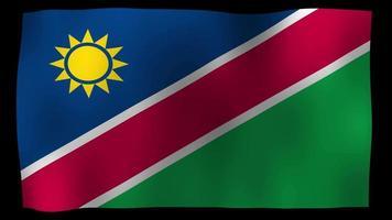 namibia flag 4k motion loop stock video