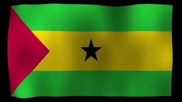 Santo Tomé y Príncipe bandera 4k movimiento lazo stock video