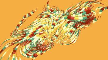 sfondo di movimento astratto grovigli in 4K video