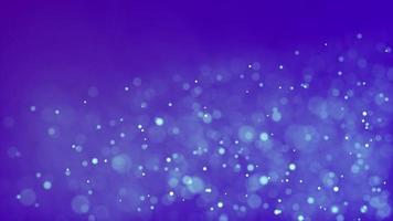 ciclo de partículas esmaecendo e movendo-se com o vento em fundo azul 4k video