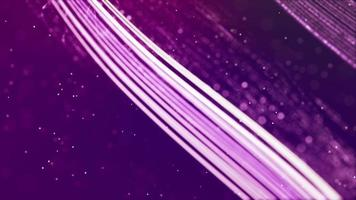 bucle de líneas brillantes que forman varias cuadrículas flotando sobre fondo púrpura 4k video