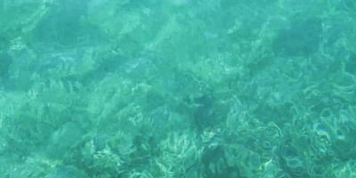 hermosas olas pequeñas en agua clara con fondo turquesa en 4k