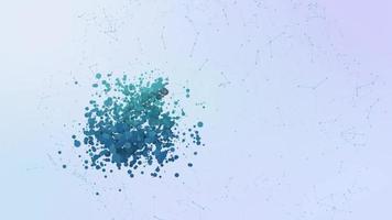 icono de almacén de datos en la nube animación burbujas salpicaduras elementos morphing