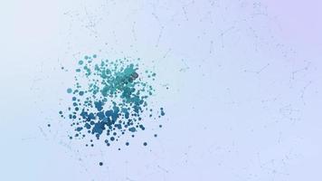 ícone de comunicação do telefone, animação, bolhas, respingos, elementos de transformação video