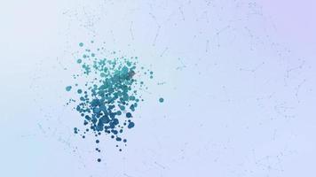 ponto de interrogação sinal faq ícone animação bolhas respingos de elementos de transformação