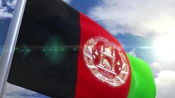 animação da bandeira do Afeganistão