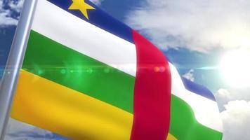 Bandeira da República Centro-Africana com animação