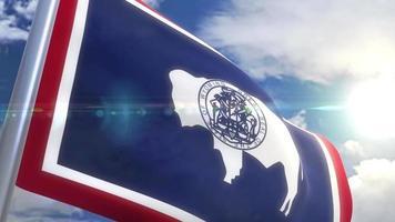 Bandeira do estado de Wyoming, EUA