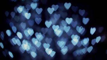 luces bokeh corazón azul