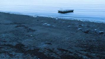 Clip de mano de la orilla del lago en Maine