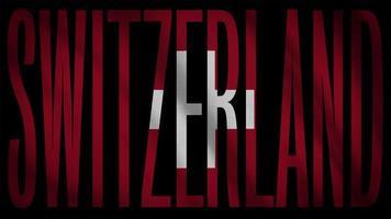 schweizer flagge mit schweizer maske