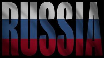 Russland Flagge mit Russland Maske