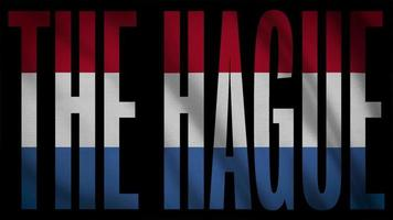 niederländische Flagge mit der Haager Maske