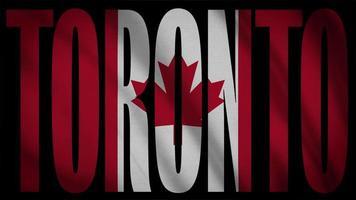 Kanada Flagge mit Toronto Maske