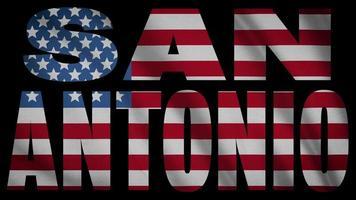 Bandera de Estados Unidos con máscara de San Antonio