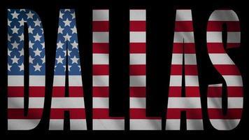 bandera de estados unidos con máscara de dallas