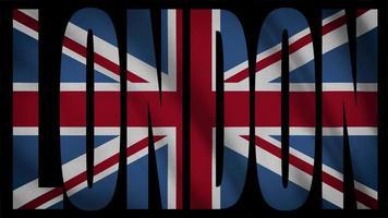 vlag van het verenigd koninkrijk met masker van Londen video