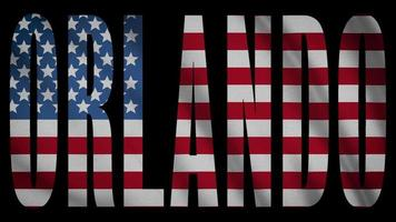 USA Flagge mit Orlando Maske