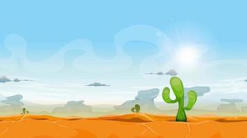 animação perfeita da paisagem do deserto ocidental