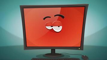 desenho animado engraçado personagem de computador animação video