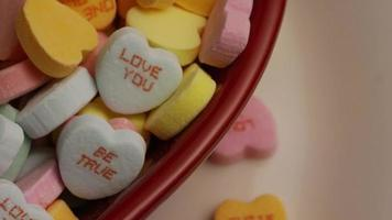 Rotating stock footage shot of Valentine's Day candy - VALENTINES 016