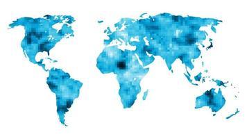 wereldkaart met mozaïek achtergrond