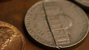 rotação de imagens de arquivo de moedas monetárias americanas - dinheiro 0330