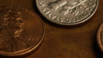 rotação de imagens de arquivo de moedas monetárias americanas - dinheiro 0327