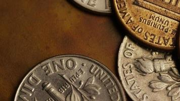 rotação de imagens de arquivo de moedas monetárias americanas - dinheiro 0316