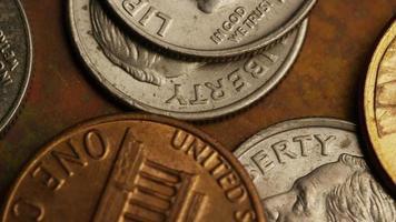 rotação de imagens de estoque de moedas monetárias americanas - dinheiro 0315