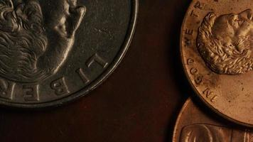 Imágenes de archivo giratorias tomadas de monedas monetarias estadounidenses - dinero 0279