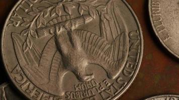rotação de imagens de estoque de moedas monetárias americanas - dinheiro 0259