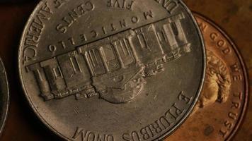Imágenes de archivo giratorias tomadas de monedas monetarias americanas - dinero 0336