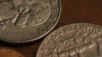 rotação de imagens de arquivo de moedas monetárias americanas - dinheiro 0274