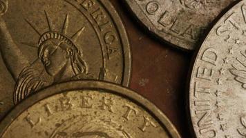 rotação de imagens de estoque de moedas monetárias americanas - dinheiro 0345