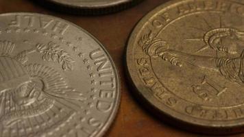 rotação de imagens de arquivo de moedas monetárias americanas - dinheiro 0351