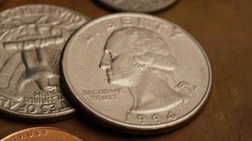 rotação de imagens de arquivo de moedas monetárias americanas - dinheiro 0295