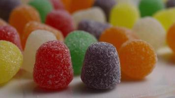 Rotating shot of gumdrop candy - CANDY GUMDROPS 033