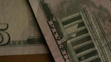 Disparo giratorio de dinero americano (moneda) - dinero 474