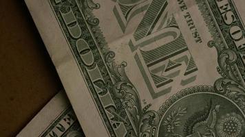 Disparo giratorio de dinero americano (moneda) - dinero 470