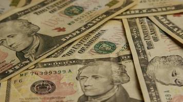 Disparo giratorio de dinero americano (moneda) - dinero 574