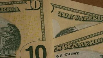 Disparo giratorio de dinero americano (moneda) - dinero 499
