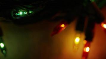 Plano cinematográfico y giratorio de luces navideñas ornamentales - Navidad 048