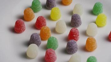 rotierender Schuss von Gumdrop Candy - Candy Gumdrops 005