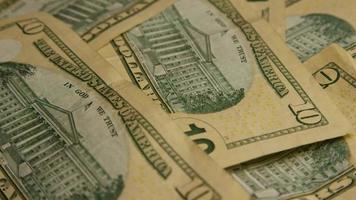 Disparo giratorio de dinero americano (moneda) - dinero 577