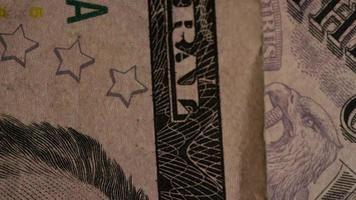 Tiro giratorio de dinero americano (moneda) - dinero 495