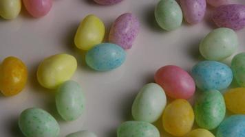 Rotating shot of colorful Easter jelly beans - EASTER 104 video